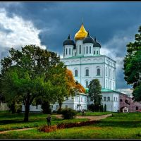 The Trinity Cathedral. Pskov. Russia., Псков