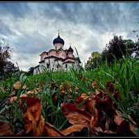 Autumnal motive in the ancient city. Pskov. Russia., Псков