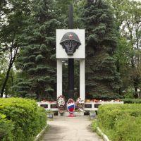 Сквер с памятником на братской могиле установленный в 1974 г., Пыталово