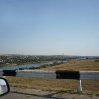 Вид на г. Белая Калитва с моста через Северский Донец, Аютинск
