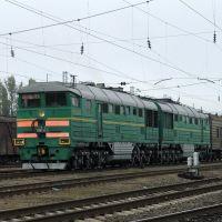 Diesel locomotive 2TE116-1004, Батайск