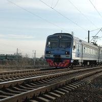 EMU-train ED9M-0089 near stopping plathform Electrodepo, Батайск