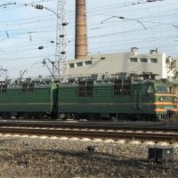 Electric locomotive VL80S-225 near depot of Bataysk, Батайск