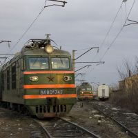 Electric locomotives VL80 near depot in Bataysk, Батайск