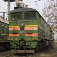 Diesel locomotive 2TE10M-2916, Батайск