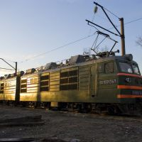 Electric locomotive VL80K-747 near depot in Bataysk, Батайск