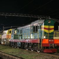 Diesel shunter ChME3-4927 on train station Bataysk, Батайск