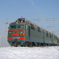 Electric locomotive VL80S-2509 with train (Электровоз ВЛ80С-2509), Батайск
