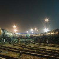 The north hump yard of train station Bataysk, Батайск