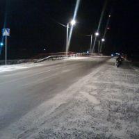 Новый Мост Ночью Зимой. The new bridge at night in winter, Большая Мартыновка