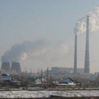 Вид на ТЭЦ-2, Волгодонск