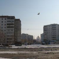 Вид на новый храм с улицы Королёва, Волгодонск