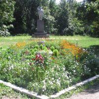 Центр поселка, памятник Ленину, Гигант