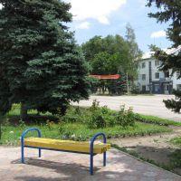 Площадь возле памятника, Зерноград