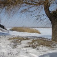Зима, северский донец, коса, Каменск-Шахтинский