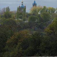 Константиновск. Вид на Покровскую церковь от новой школы №2 25/X.2008, Константиновск