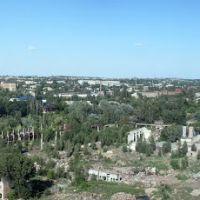 Вид с трубы мартеновского цеха весной, Красный Сулин