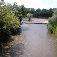 Полноводная река весной., Куйбышево