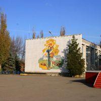 Рисунок на стене Дворца Культуры, Матвеев Курган