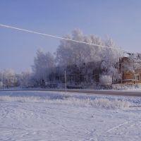 Зима в Покровском ул. О. Кошевого, Покровское