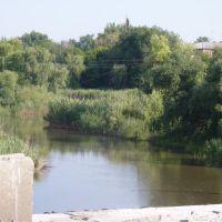 Река Большой Несветай.Вид с ремонтируемого моста.03.07.2010 г., Родионово-Несветайская