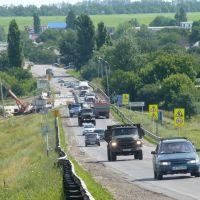 Ремонт моста через реку Большой Несветай в Родионовке.8 июля 2010 года., Родионово-Несветайская
