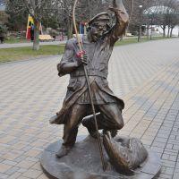 Sculptural composition «Fisherman» in Quay Park of Rostov-on-Don / Скульптурная композиция «Рыбак» на набережной в Ростове-на-Дону, Ростов-на-Дону