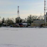 Панорама. Яхтклуба и Морского порта. Зима., Таганрог