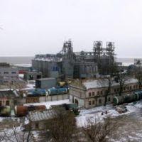 Панорама ТСРЗ с обрыва Обрывного переулка., Таганрог