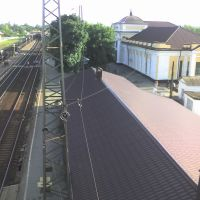 ЖД вокзал с моста, Шахты