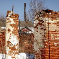 Развалины одного из баташевских корпусов, Гусь Железный