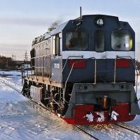 Дизель-локомотив Скопинского ППЖТ на рейде, Заречный