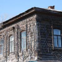 Пронск. Старый деревянный дом, фрагмент., Пронск
