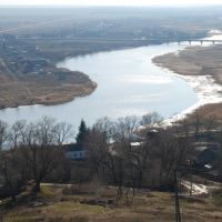 Пронск. Вид за реку с городища., Пронск