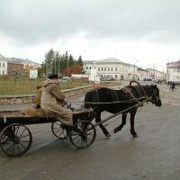 Сапожок. На площяди Ленина, бывшей Соборной площади. Октябрь 2010г., Сапожок
