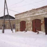 Скопин. Торговые ряды справа от стадиона., Скопин
