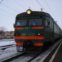 Станция Чучково. Электропоезд: Сасово - Рязань., Чучково