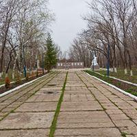 Парк Победы накануне праздника, Алексеевка