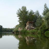 Богатое. Живописные развалины на берегу Самарки., Богатое