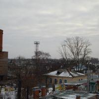 Вид на южную сторону города с ж/д моста, Кинель
