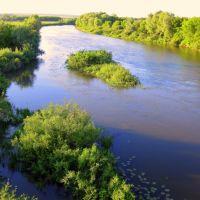 Река Б. Кинель в районе моста, Кинель-Черкасы