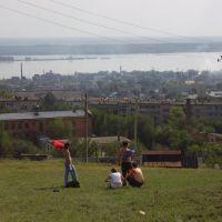 с холма, Октябрьск