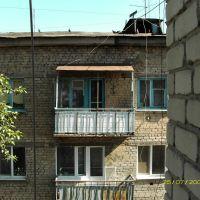 вид с балкона, Октябрьск