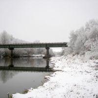 Первый снег. Мост через реку Б.Кинель., Похвистнево