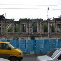 Сгоревшее здание на ул. Льва Толстого, Самара