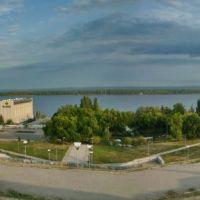 Вид на Волгу с площади Славы, Самара