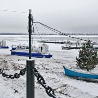 Зимняя переправа в с.Рождествено, Самара