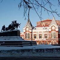 Памятник В.И.Чапаеву и театр драмы, Самара