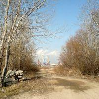 Вид на речной порт, Сызрань