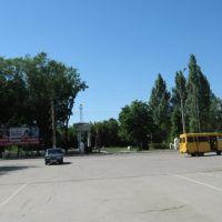 Вид на памятник Чапаеву, Чапаевск